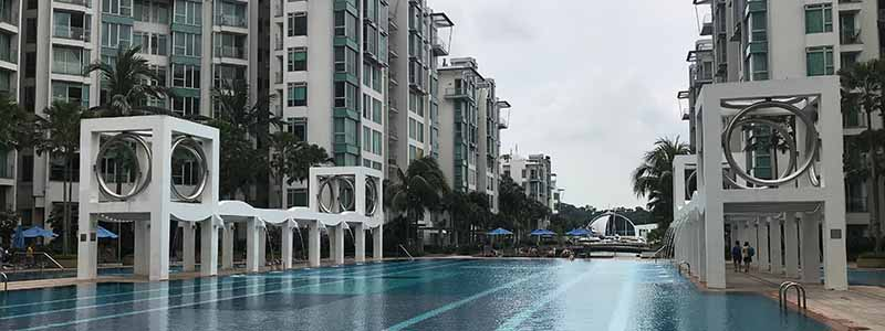 Caribbean at Keppel Bay Pool of Condo in Singapore