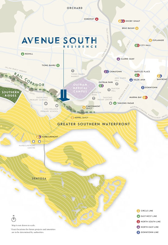 do Avenue South Residence Location Map