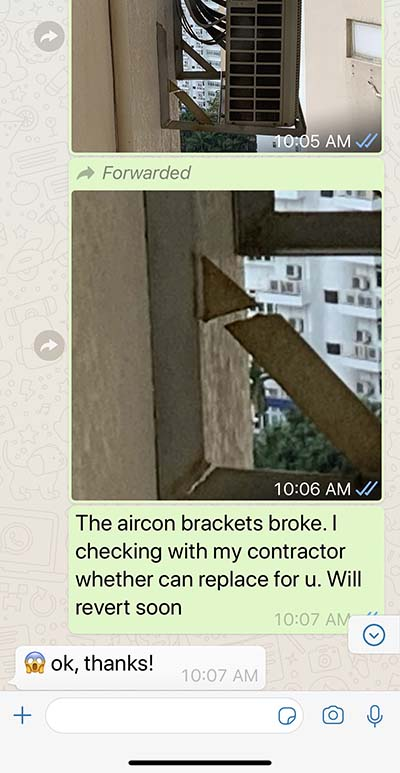 Singapore Condo aircon Bracket Replacement Singapore Best Property Agent