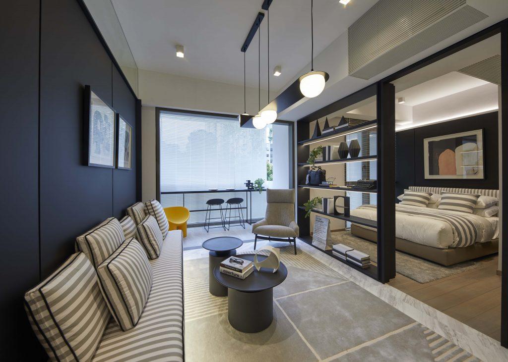 the landmark 1 bedroom - living room
