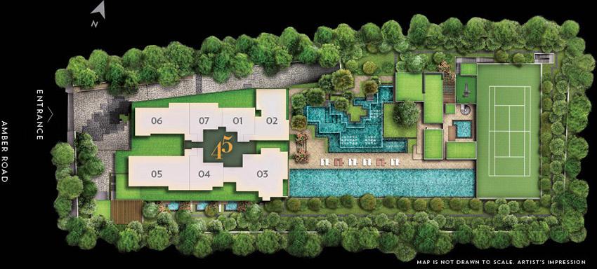 Amber 45 site-plan
