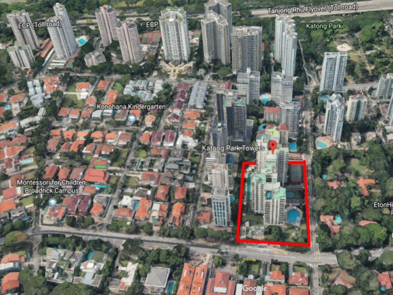 Katong Park Tower Aerial View (Mountbatten Residences showflat Site Location)