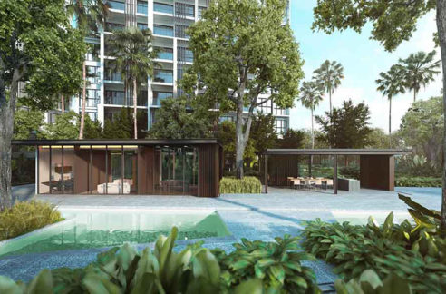 Pavilion of Penrose Condo in Singapore by developer CDL Hong Leong.
