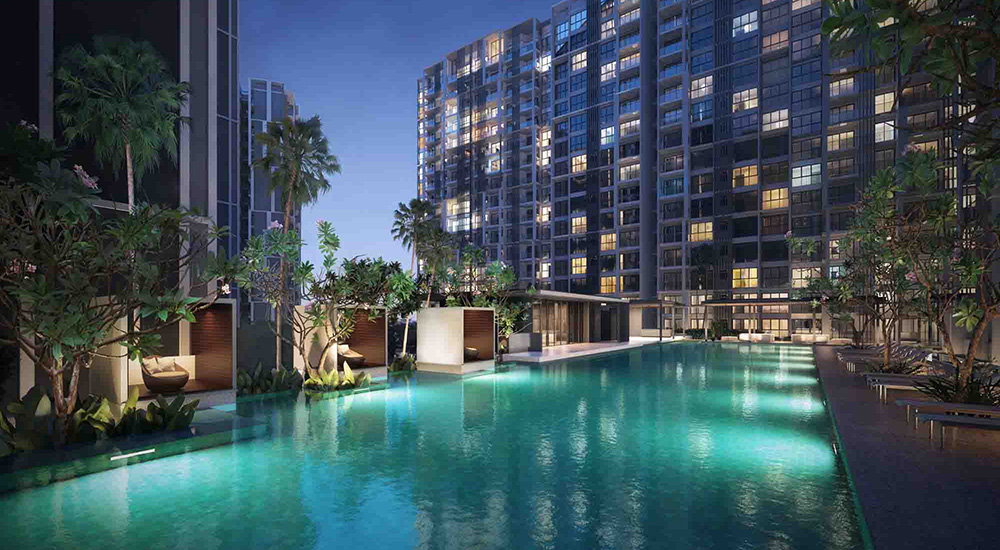 Penrose Condo Singapore New Launch Pool View by CDL Hong Leong