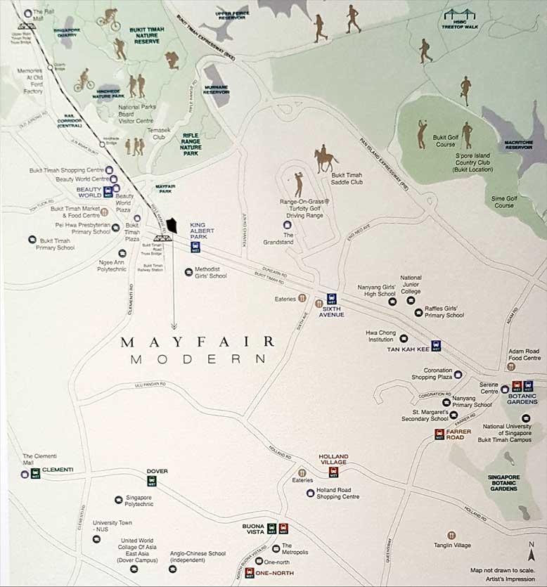 Mayfair_Modern_condo_BukitTimah_Location_map