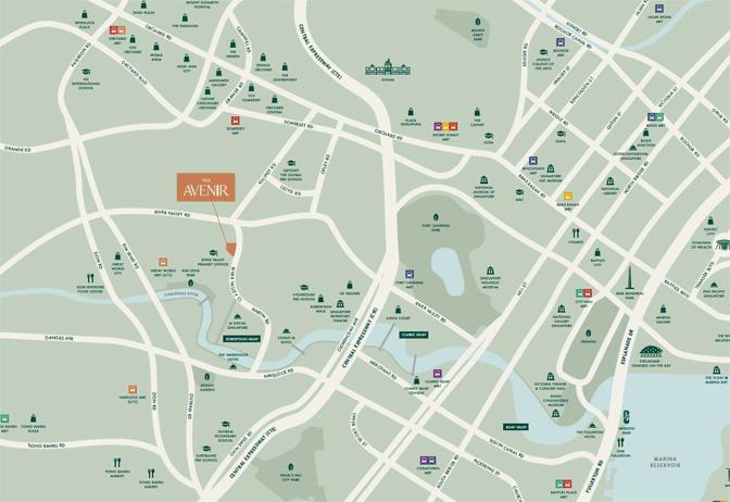 the-avenir-location-map