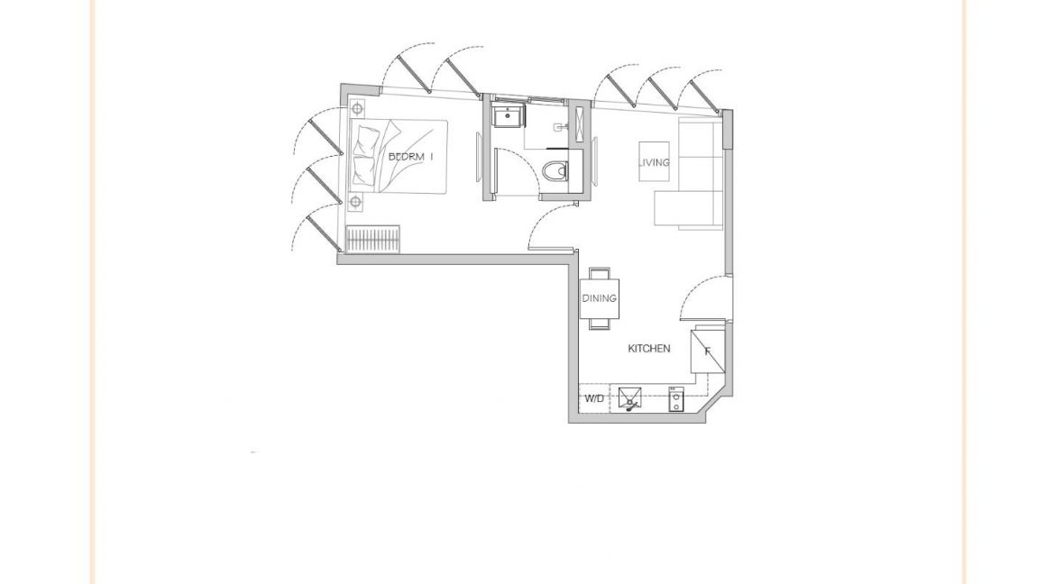 1 Bedroom Type A Stack 09