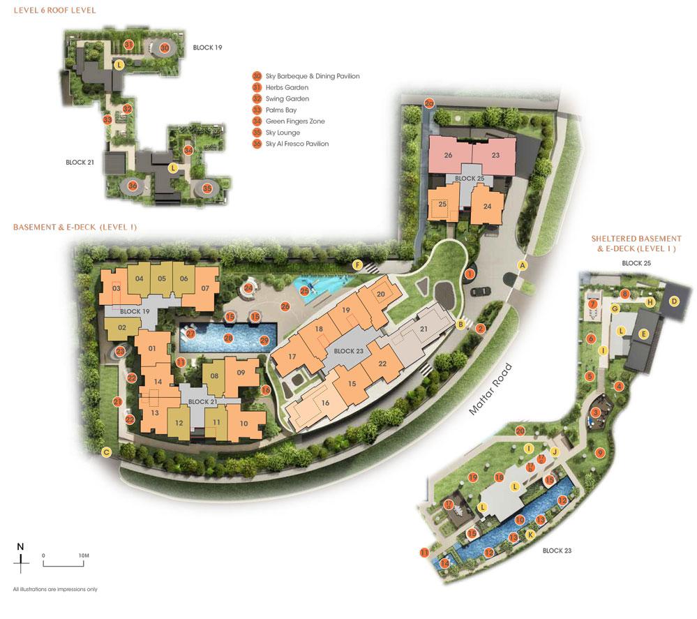 The Antares siteplan