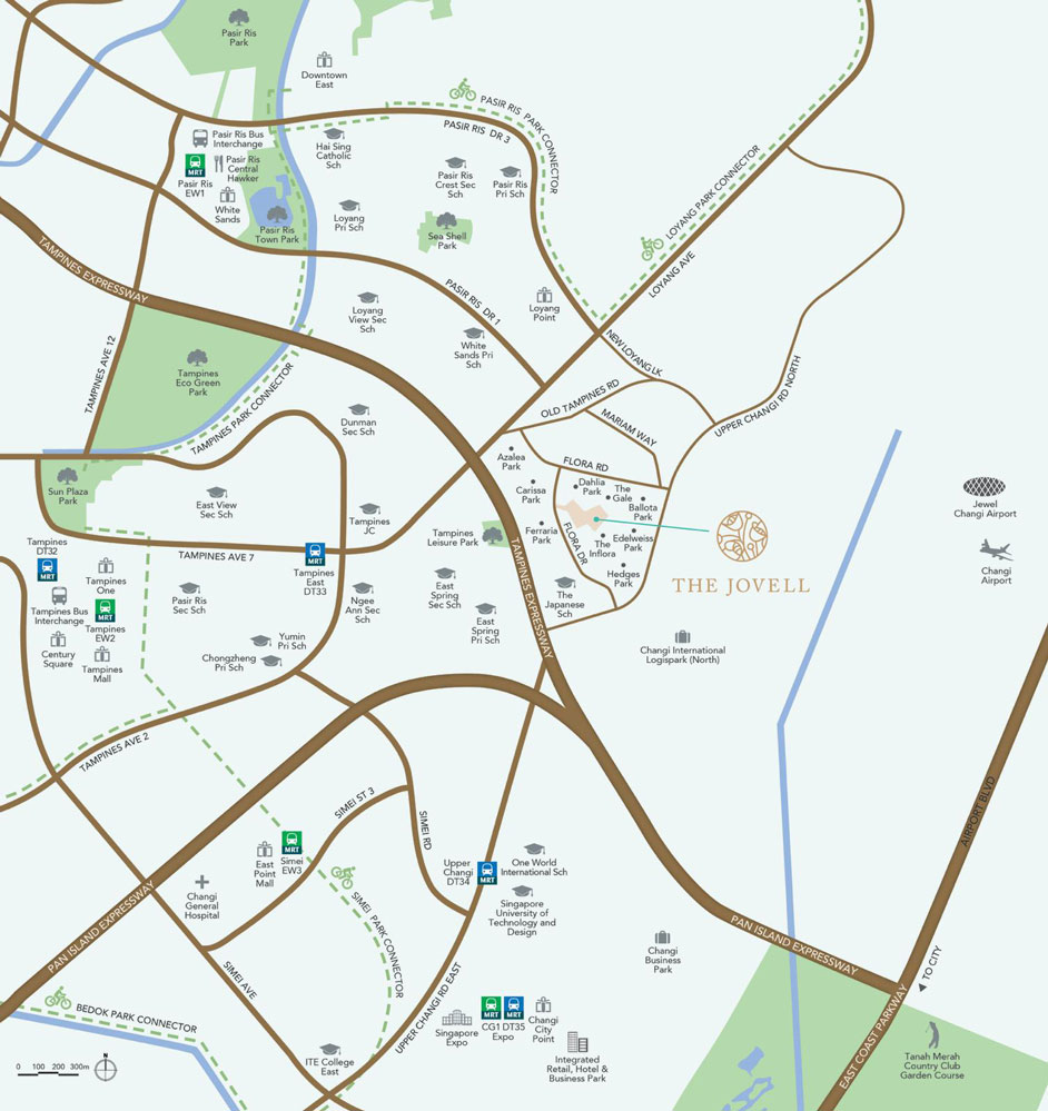 The Jovell location map