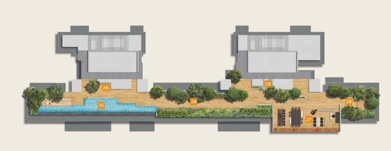 the hyde site plan sky terrace