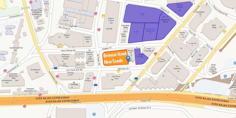 Bernam Condo Location Map