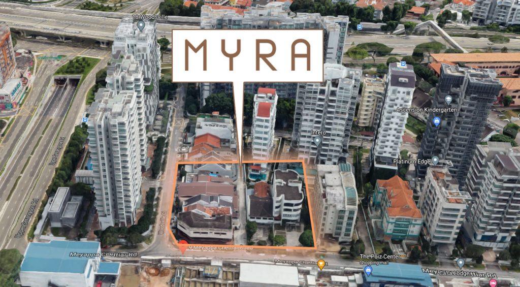 Myra Condo location map
