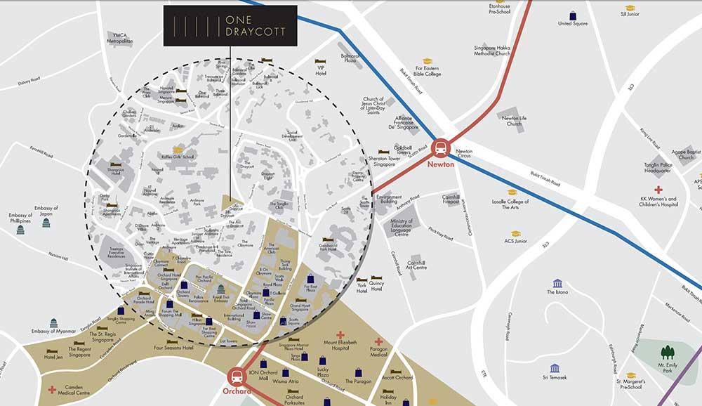 One-Draycott-location-map